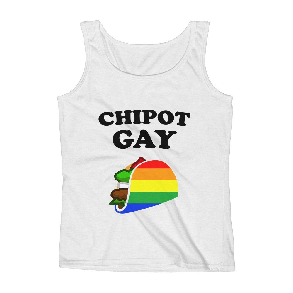 Mad Over Shirts Chipot Gay Foodie Equality Pride Bi Unisex Premium Tank Top