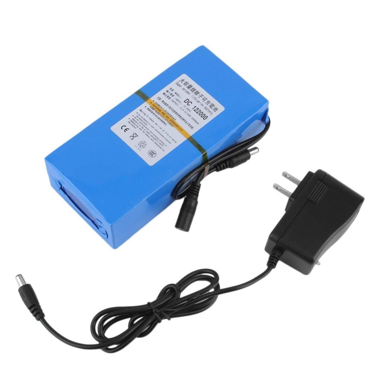 20000mAh 10, 8 V-12, 6 V DC Batteria ricaricabile ai polimeri di litio agli ioni di litio con indicatore di funzionamento + Caricatore di alimentazione CA Spina USA Redstrong