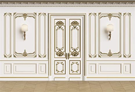 Leyiyi 10x6.5ft Vintage Room Inside Backdrop European Frame French Door Modern Castle House Cementery