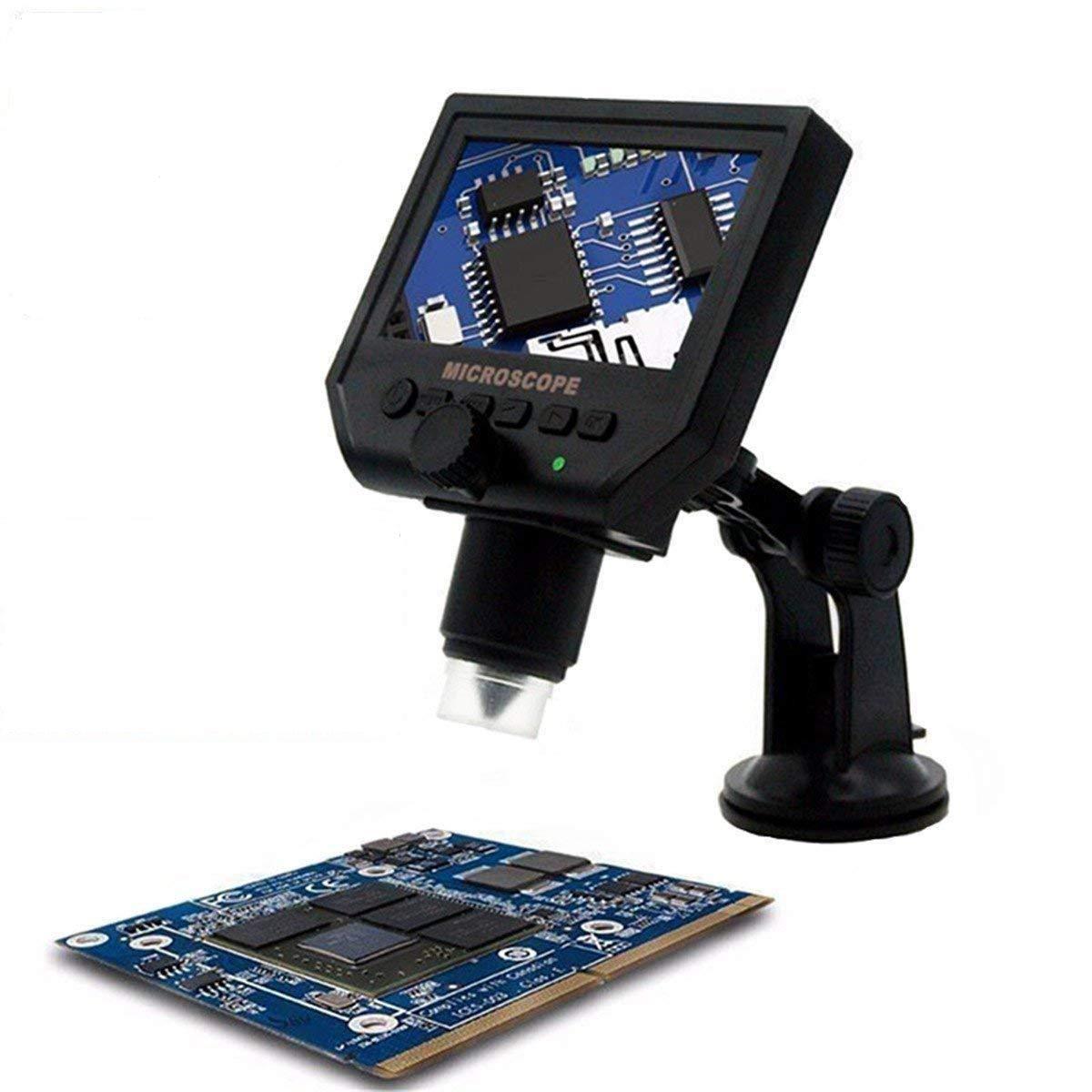 HD 3.6 Mp Microscopio Digitale Portatile + Schermo LCD 4.3 – Microscopio digitale/videocamera fotocamera + micro SD Card Slot, acquisizione di foto e video … acquisizione di foto e video ... EMEBAY EME-G600