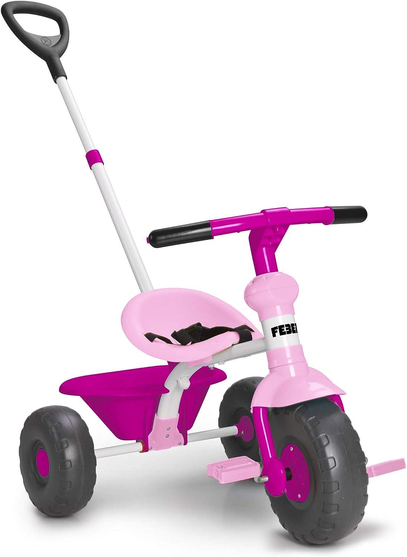 FEBER Baby Trike Pink - Triciclo Rosa para niños y niñas de 1 a 3 años (Famosa 800012140)