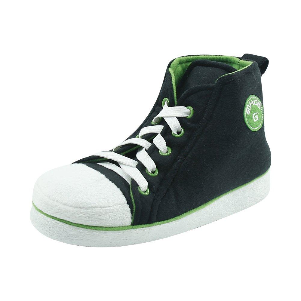 Gohom Men's Fancy Warm Indoor Slipper Boots House Black&Green US 10
