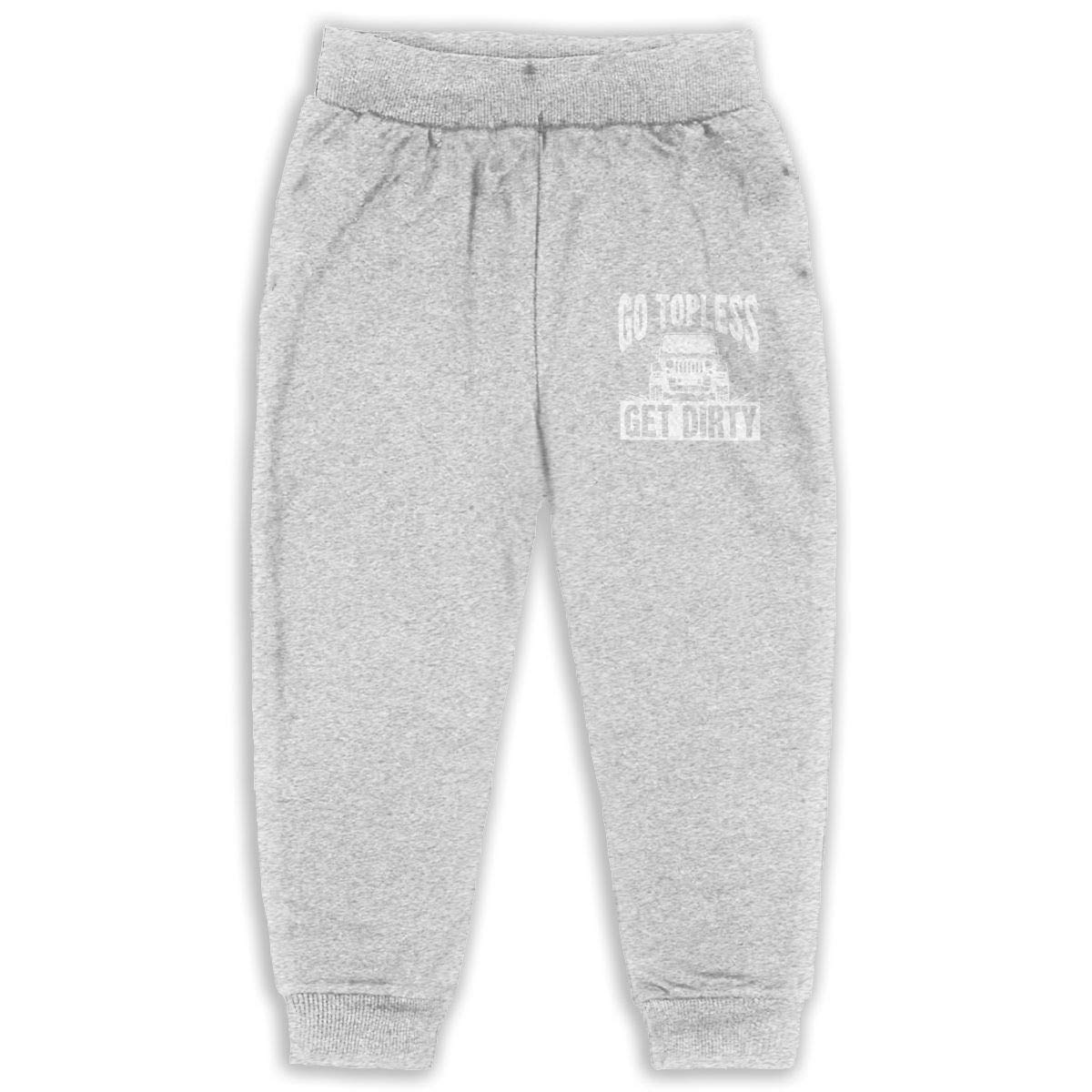 Laoyaotequ Go Topless Get Dirty Kids Cotton Sweatpants,Jogger Long Jersey Sweatpants