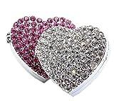 Bestbling - Ambientador para coche, diseño de corazón con cristales brillantes, para colocar en la...