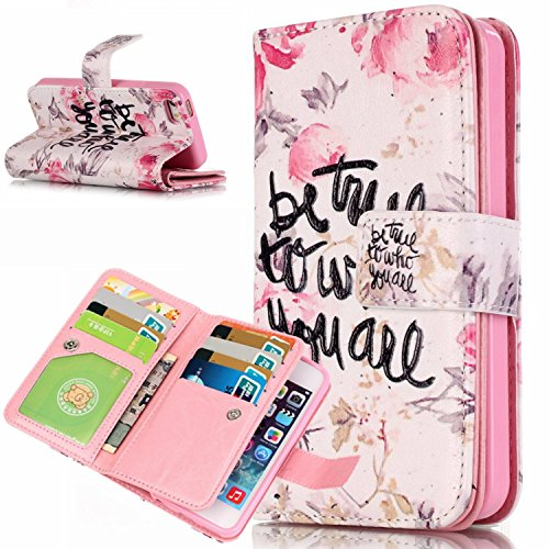 Voguecase® für Apple iPhone 5C hülle, Kunstleder Tasche PU Schutzhülle Tasche Leder Brieftasche Hülle Case Cover (be true) + Gratis Universal Eingabestift