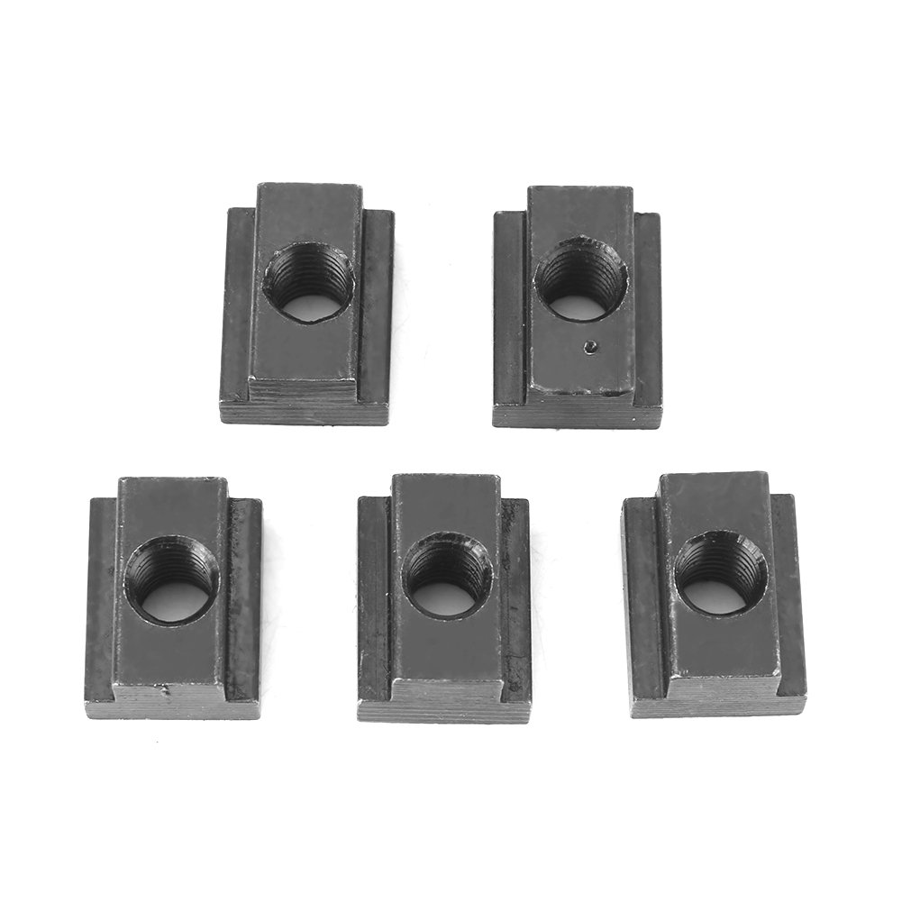 5pcs/ pack 45 Carbon Steel T-slot Nut M8/M10 Threads Black Oxide Finish for Machines Tool Tables(M10) Walfront EXPSFN018872