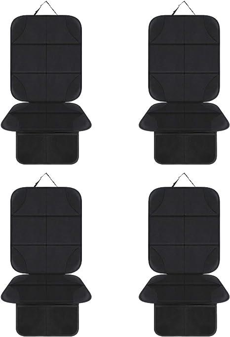 AOAFUN 4 Pack Protector de Asiento de Coche Mejor Protecci/ón para Los Asientos de Los Coches del Ni/ño y del Beb/é,Antideslizante y Resistente,ISOFIX Compatible,Material Oxford 600D Negro