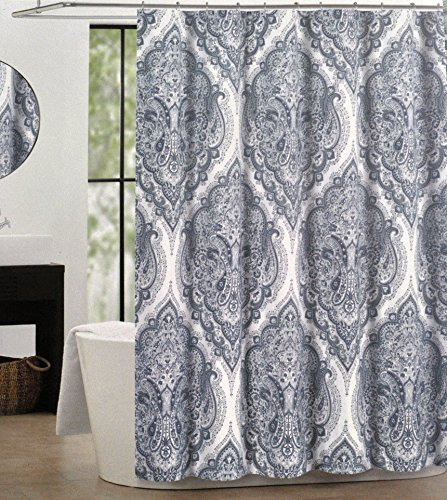 Curtains Ideas blue paisley shower curtain : Amazon.com: Tahari Luxury Boho Style Moroccan Medallion Fabric ...