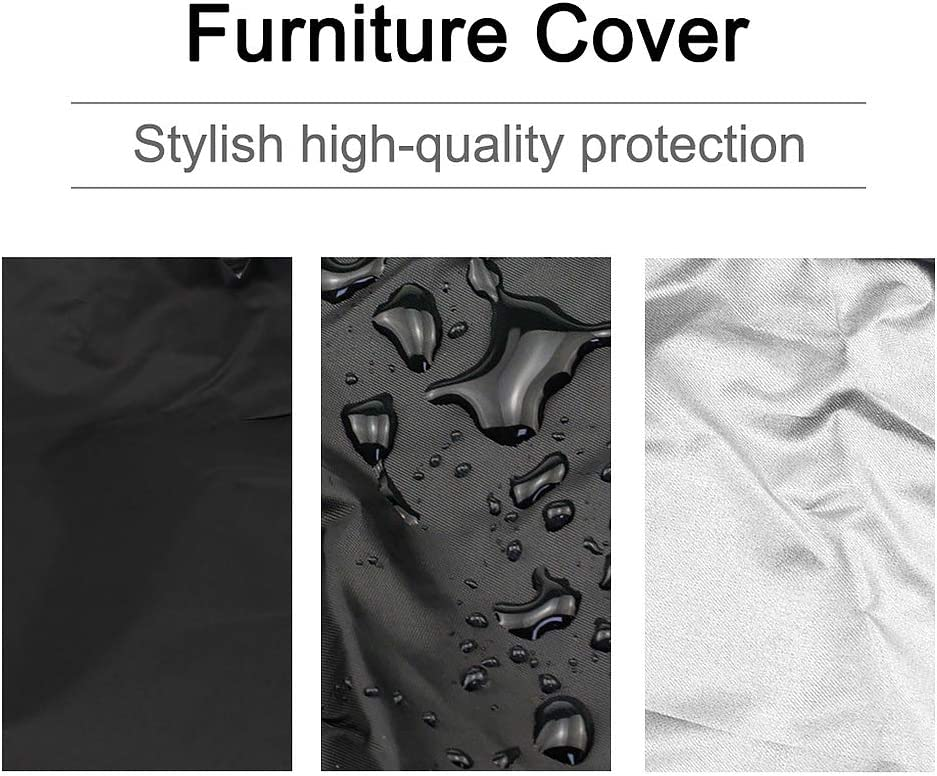 Grey Patio Folding Sunbed Sun Lounger Covers with Storage Bag Folding Reclining Chair Cover Waterproof 210D Oxford Fabric Garden Stacking Chair Covers