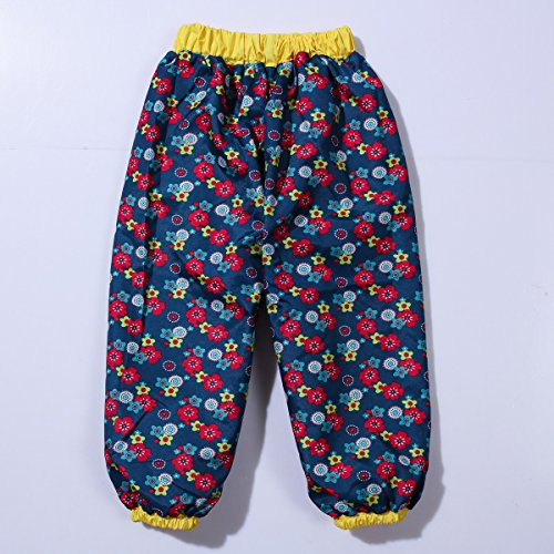 LZH Girl Baby Kid Waterproof Hooded Coat Jacket Outwear Suit Raincoat Hoodies with Pants Yellow 4T(For Age 3-4Y)