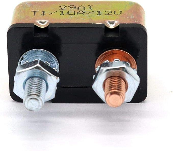 24V Interruptor Disyuntor de Circuito General Disyuntor de Circuito de Sobrecarga de Reinicio Autom/ático 50AMP XZANTE Autom/óvil Marino 12