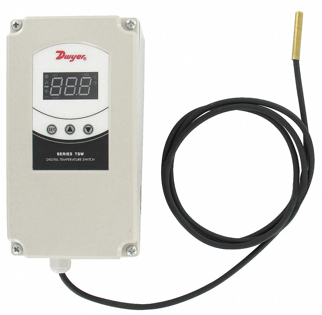 Dwyer Temperature Controller, 12 to 24VAC/DC Input Voltage, Switch Function: SPDT