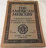 img - for The American Mercury March 1924, Vol I, No 5 book / textbook / text book