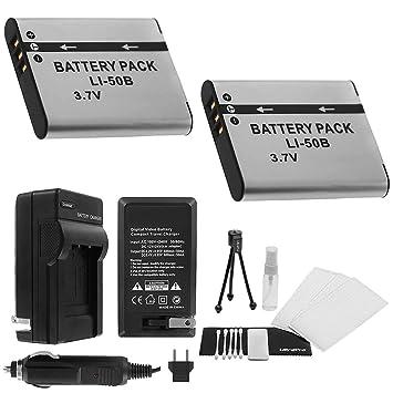 Amazon.com: LI-50B Batería 2-Pack Bundle con rápido cargador ...