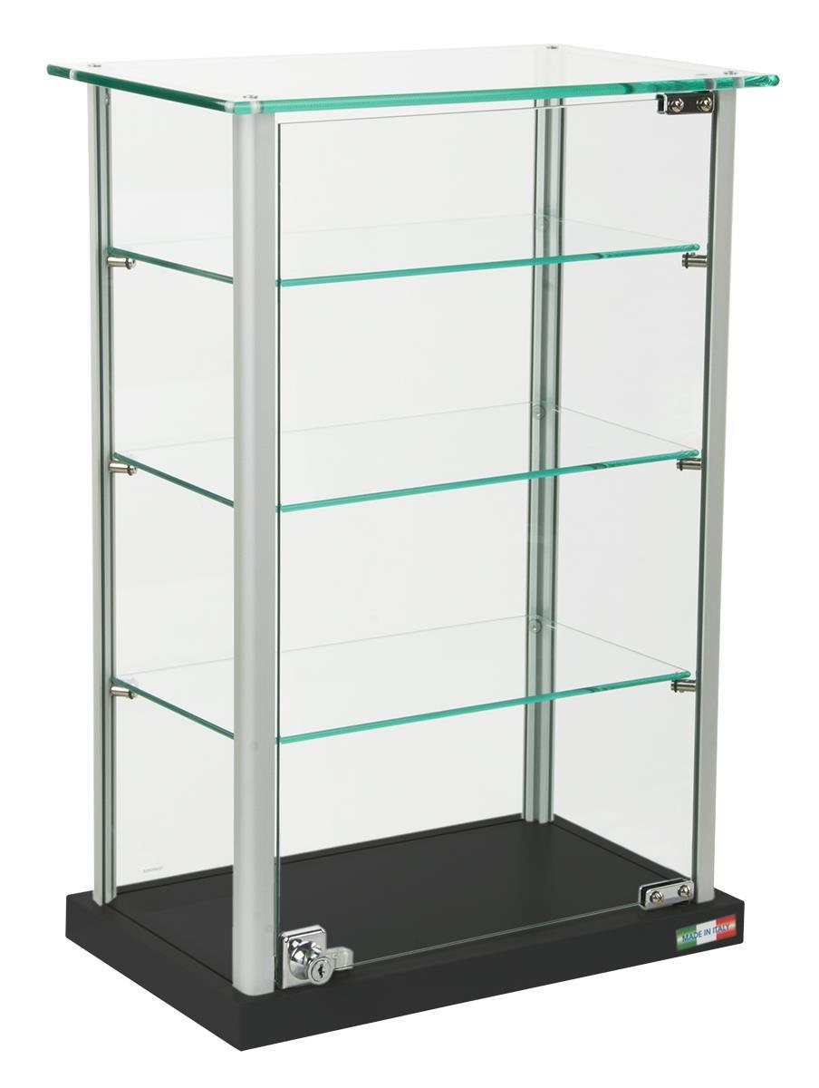 Amazon.com: Small Curio Cabinet, Free Standing Glass Display Shelf ...