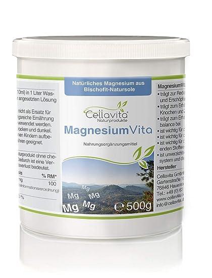 CELLA Vita Magnesio Vita (100%), con natural Magnesio de bischofita – Natural