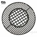 Hongso PCH835 Cast Iron Gourmet BBQ System Hinged Cooking Grate Replacement for Weber 8835, fits 22-1/2-inch Weber charcoal grills
