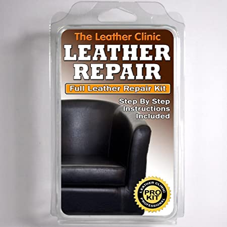 Black Leather Sofa Chair Repair Kit For Tears Holes Scuffs With Colour Dye Amazon Co Uk Kitchen Home