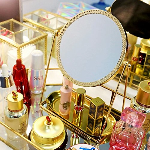 Antique Makeup Vanity Mirror Decorative Mirrors Framed Mirror Vintage Gold Vanity Set Tabletop