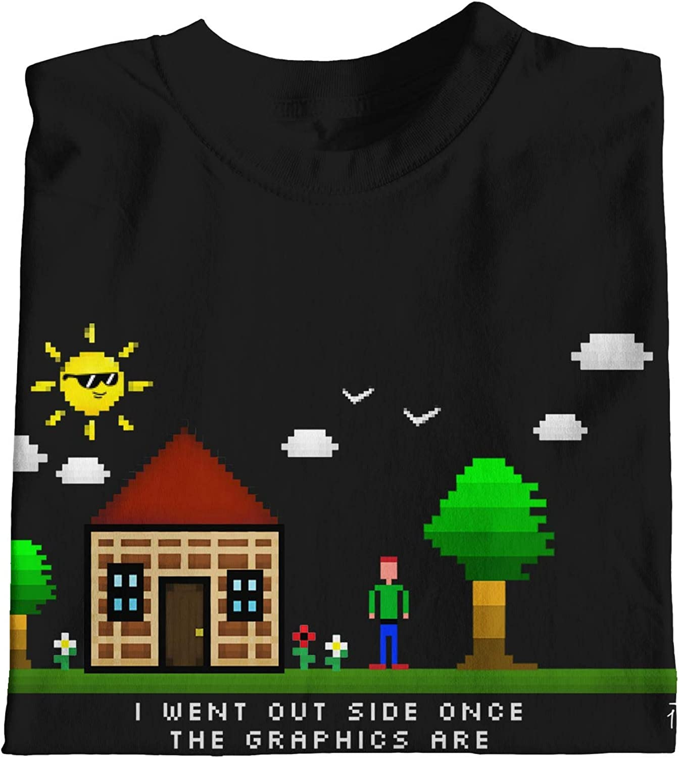 1Tee Mens I went outside once The graphics weren/'t very good Techy T-Shirt