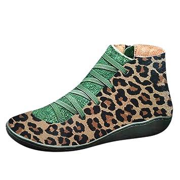 Stiefeletten Leder Winter Lederstiefel Wasserdichte Toe Flache Lilihot Ankle Boots Kurzschaft Stiefel Vintage Elegant Schuhe Round Damen tsoQxBhdCr