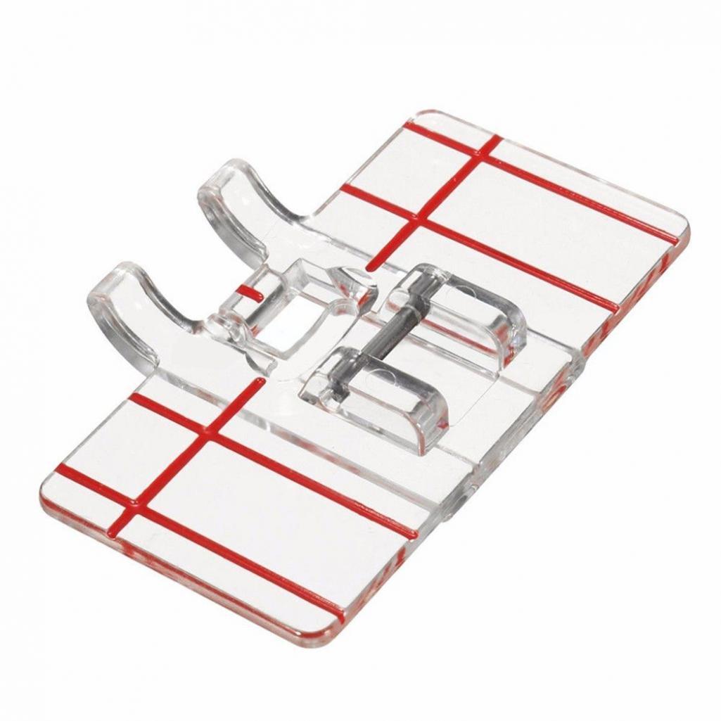 Zhouba plastica trasparente Parallel Stitch piede piedino per macchina da cucire domestiche domestiche Tool taglia unica Silver