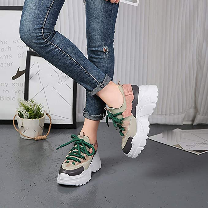 Youth Fashion Flock Shoes Running Walk Lace-Up Leather Sport Breathable Shoes For fall tall ankle boots riding boots with heel womens casual boots Flock Sole Material:rubber Shoes Business Casual Sneaker