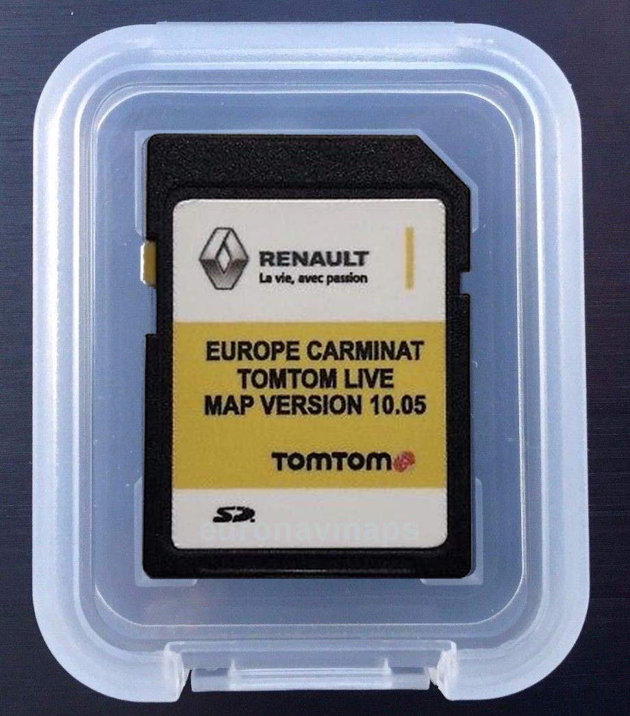 Carte SD GPS Europe 2018-10.05 Renault Tomtom Live
