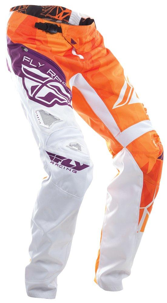 Fly Racing Unisex-Adult Bicycle Crux Pants (Orange/White/Burgundy, Size 18)