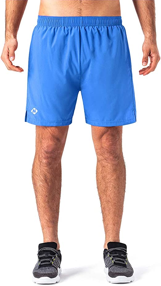 KAKUGO Mens 5 Quick Dry Running Shorts Workout Athletic Outdoor Shorts Zip Pocket