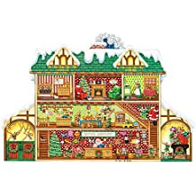 Bits and Pieces 300 Piece Shaped Jigsaw Puzzle for Adults - Santa's Workshop - 300 pc Christmas, Holiday Jigsaw by Artist Margaret Cobane