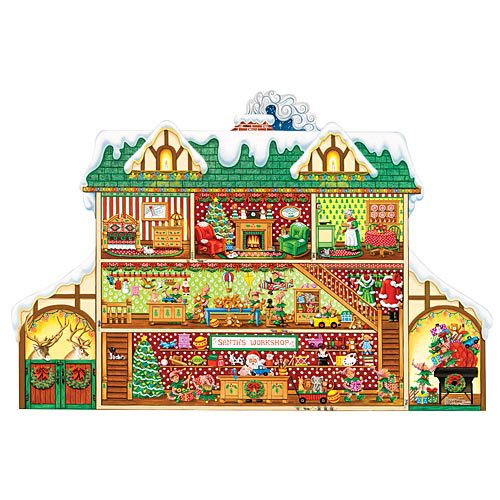 Santa's Workshop - 750 pc Christmas, Holiday Jigsaw