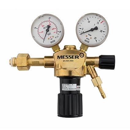 Messer argón CO2 Manorreductor Regulador de presión Válvula del gas MIG MAG WIG TIG
