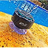 IPX7 100% Waterproof & Dust-proof Floating Bluetooth Shower Speaker - Compatible with all Bluetooth devices including iPhone 6, 6s, and Samsung devices