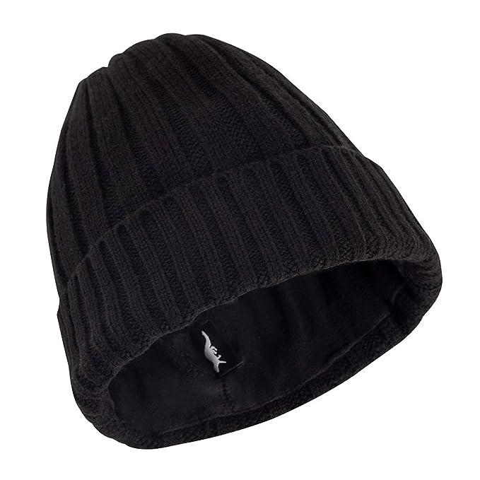 Amazon.com  OTTER Waterproof Breathable Beanie hat (Black)  Sports ... 2bb6113cd1d