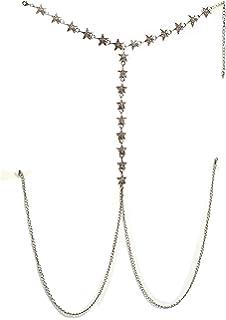 861999be39816 Mayfee Women Luxury Rhinestone Stars Bra Harness Bralette Body Chain Bikini  Jewerly Body Choker Necklace
