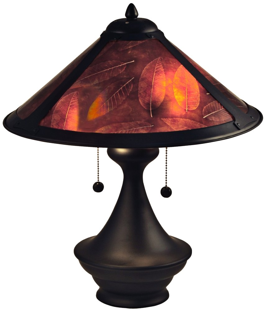 Dale Tiffany Chalton Mica Dark Bronze 2-Light Urn Table Lamp by Dale Tiffany Lamps