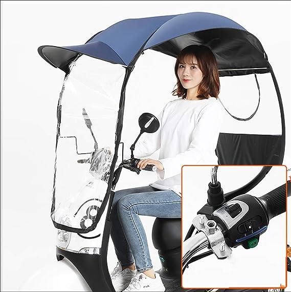 cr/ème Solaire Moto Pare-Brise Scooter Anti-Pluie Housse /étanche utilis/é for prot/éger du Vent et de la Pluie du Soleil ZLYH V/élo Parapluie Couverture