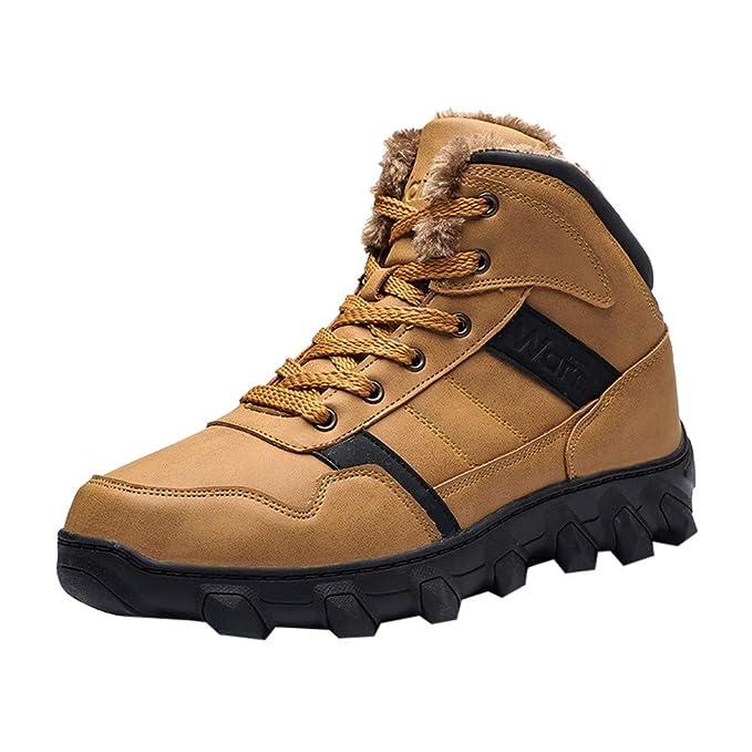 LANSKRLSP Uomo Stivali da Neve Inverno Impermeabili Scarpe da Escursionismo  Trekking Outdoor Pelliccia Sneakers Nero Marrone  Amazon.it  Abbigliamento 06e12086349
