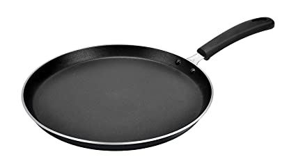 NEW 28.5CM NON STICK CLASSIC TAWA PAN EASY COOKING FLAT HANDLE CHAPATI PIZZA