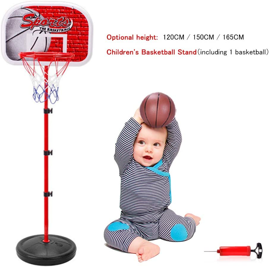 Indoor Outdoor Game for Kids Youth Backboard Basketball Stand Childrens Basketball Stand Portable Height Adjustable Basketball Hoop