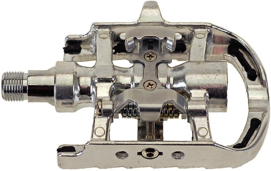 M-Wave 311806 - Pedales de doble función para MTB, color plata