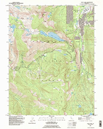 Echo Lake CA topo map, 1:24000 scale, 7.5 X 7.5 Minute, Historical, 1992, updated 1994, 26.8 x 21.5 IN - Tyvek