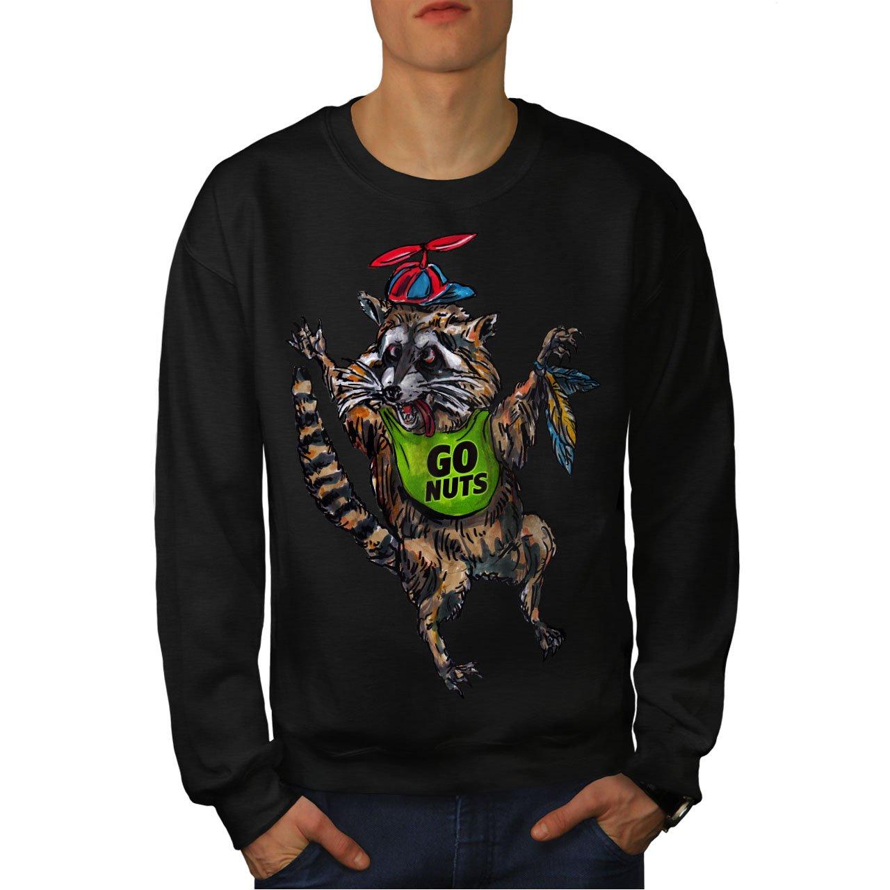Animal Casual Jumper wellcoda Funny Raccoon Cute Mens Sweatshirt