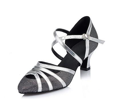 Meijili , Damen Standard & Latein , Schwarz - schwarz - Größe: 38
