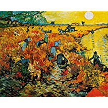 Posters: Vincent Van Gogh Poster Art Print - The Red Vineyard, 1888 (20 x 16 inches)
