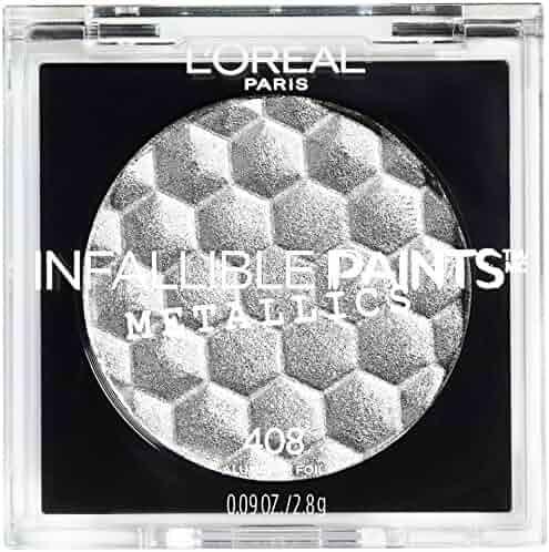 L'Oreal Paris Cosmetics Infallible Paints Metallics Eyeshadow, Aluminum Foil, 0.09 Ounce