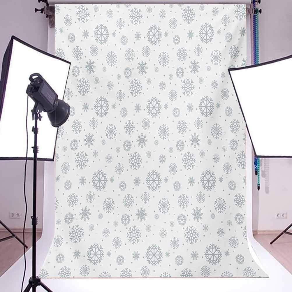 10x15 FT Backdrop Photographers,Ornate Snowflake Motifs Dots Retro Christmas Inspired Repetitive Background for Kid Baby Boy Girl Artistic Portrait Photo Shoot Studio Props Video Drape Vinyl