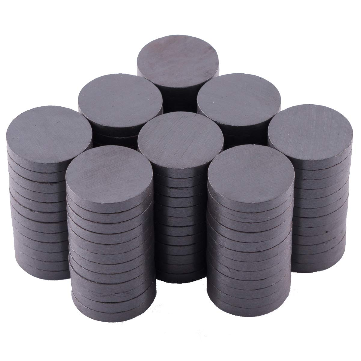 Skilled Crafter Strong Magnets for Crafts. 100 in a Box. Grade 5, 20mm x 3mm (13/16'). Round Ferrite / Ceramic Disc Magnet. Best for Art & Craft Projects, Refrigerator, Whiteboard, Bottle Cap, Science 56068972E76DA4A6