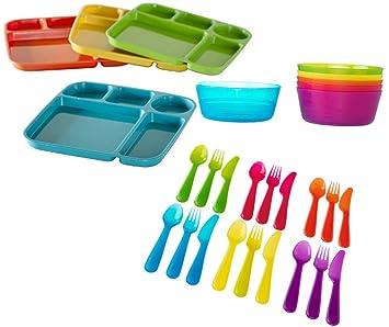 Nordic Ware parte bandejas, varios colores, juego de 4 cubiertos de IKEA KALAS cuencos, varios colores - paquete de 26 piezas: Amazon.es: Hogar